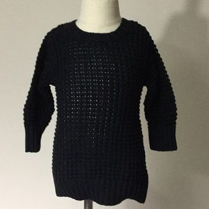 NWT solid black girls pull over sweater